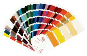 Ассортимент дизайнерских расцветок алюминиевого профиля
