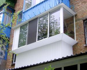 Отделка балкона с наружи