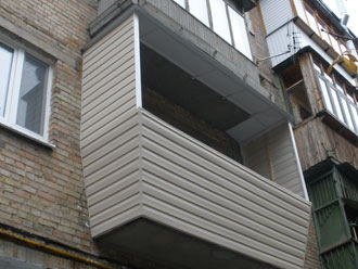 Наружная обшивка и вынос балкона